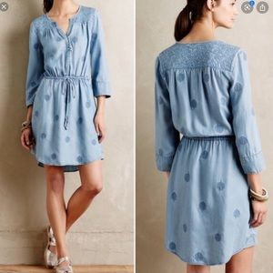 Anthropologie | Plumage Chambray Dress